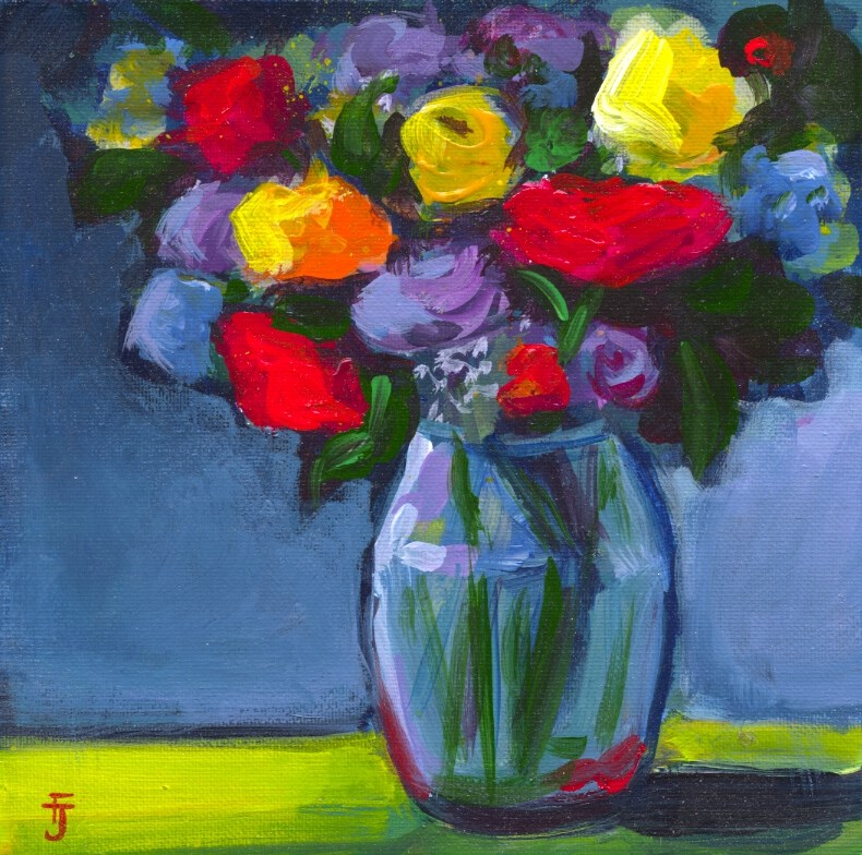 """Flowers to Brighten Your Day"" original fine art by Francine Dufour~Jones"