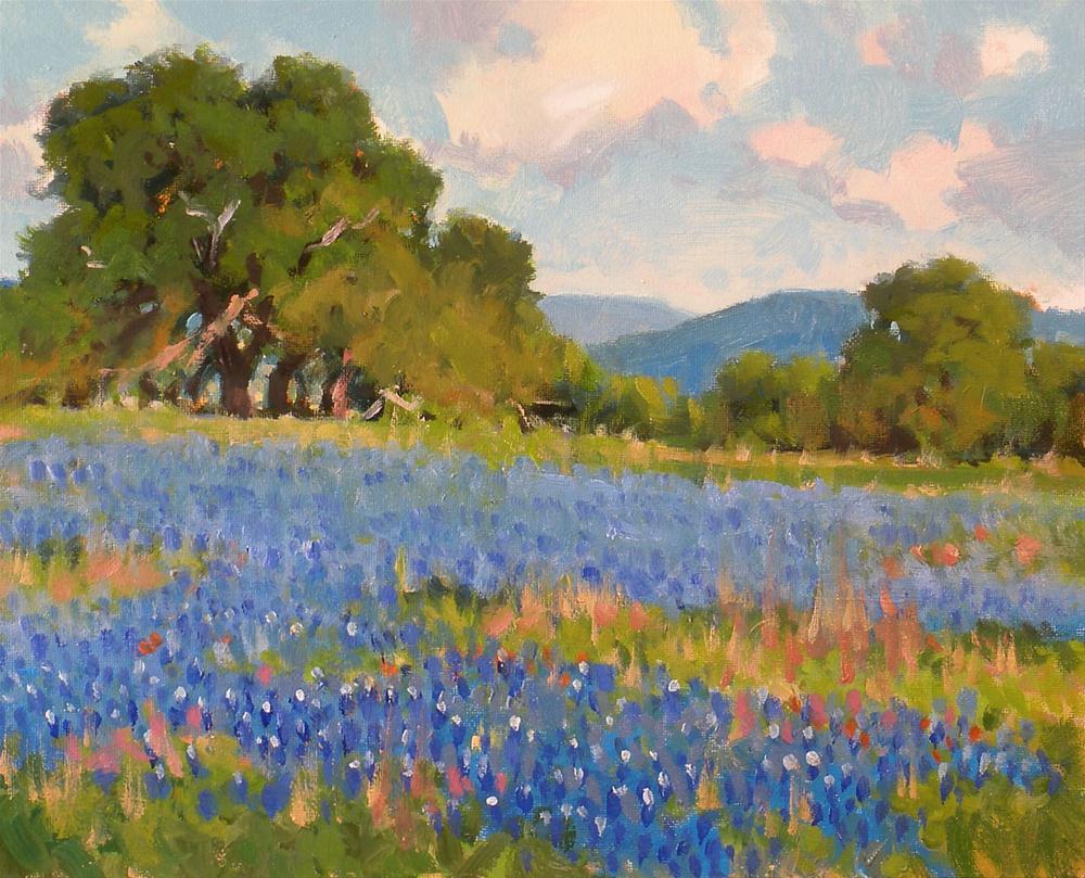 """""""Spring Blues"""" original fine art by David Forks"""