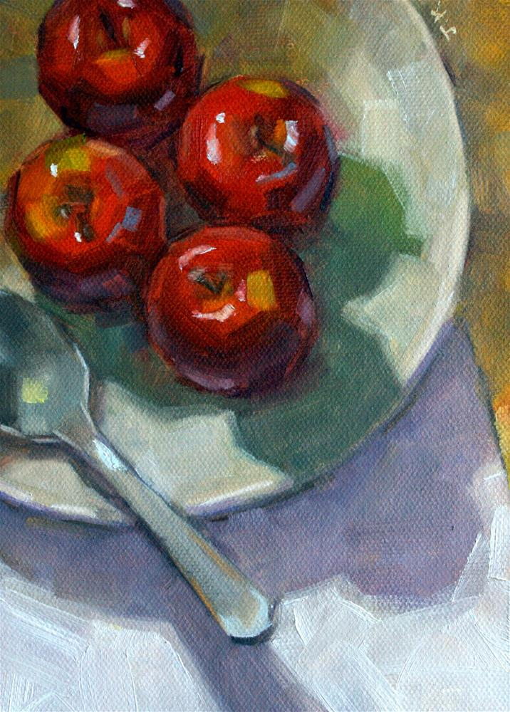 """""""Apples with Spoon"""" original fine art by Jiyoung Kim"""