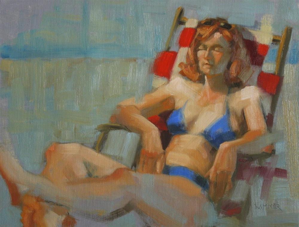 """Sunning #2  11 x 14  oil"" original fine art by Claudia Hammer"