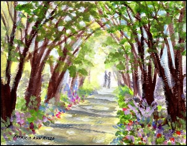 """""""When We Were Young"""" original fine art by Patricia Ann Rizzo"""