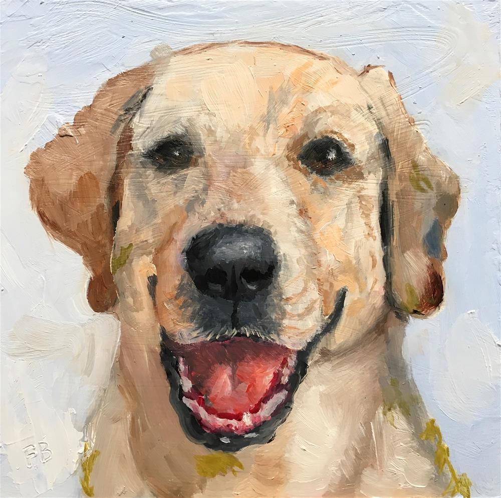 """159 Lab Dog"" original fine art by Fred Bell"