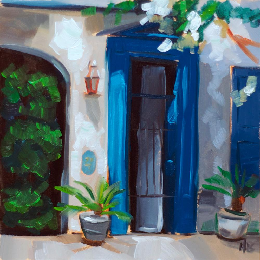 """Blue Door"" original fine art by Heather Bullach"