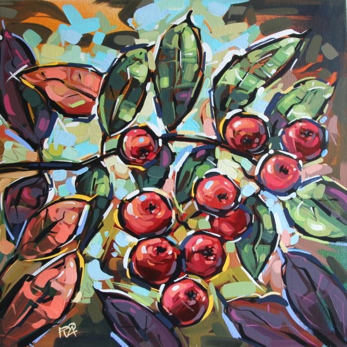 """Rowan Berries 26"" original fine art by Roger Akesson"