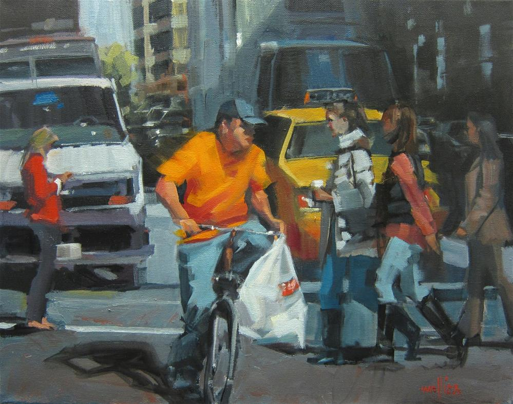 """Delivery Dude"" original fine art by Patti Mollica"