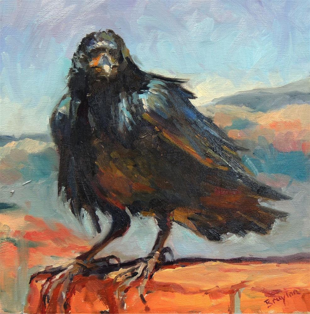 """""""Black Bird"""" original fine art by Wendy Brayton"""