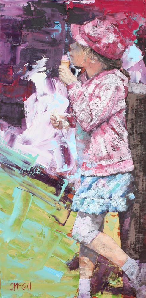 """""""Ice-cream"""" original fine art by Claire McCall"""