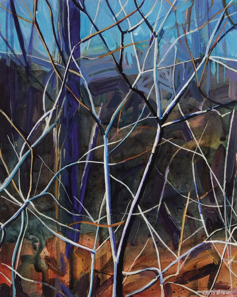 """Trees"" original fine art by Chris Breier"