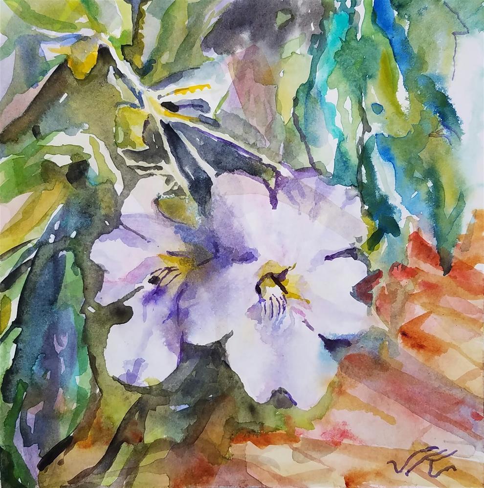 """Tumbergia de Sara"" original fine art by Jean Krueger"