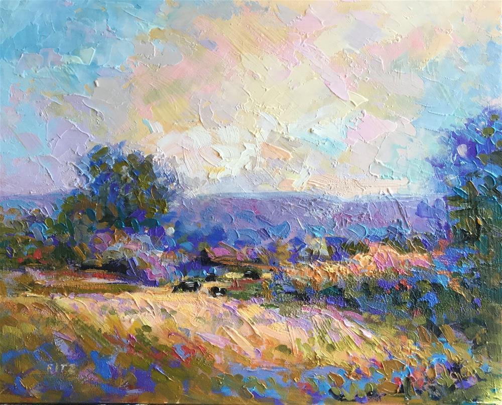 """Impasto Landscape 53"" original fine art by Charlotte Fitzgerald"