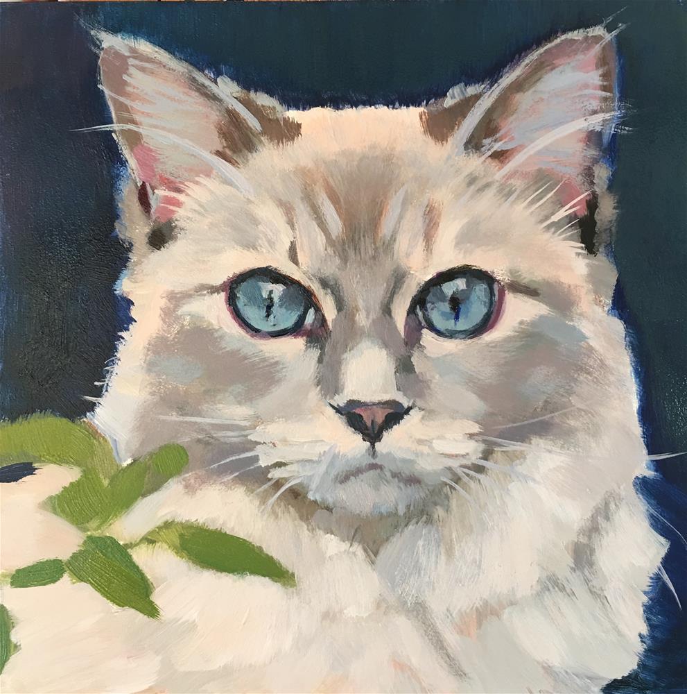 """Blue Eyes"" original fine art by Kaethe Bealer"