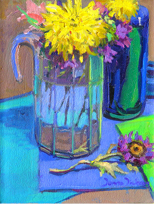 """""""Reflections in glass"""" original fine art by Donna Dickson"""