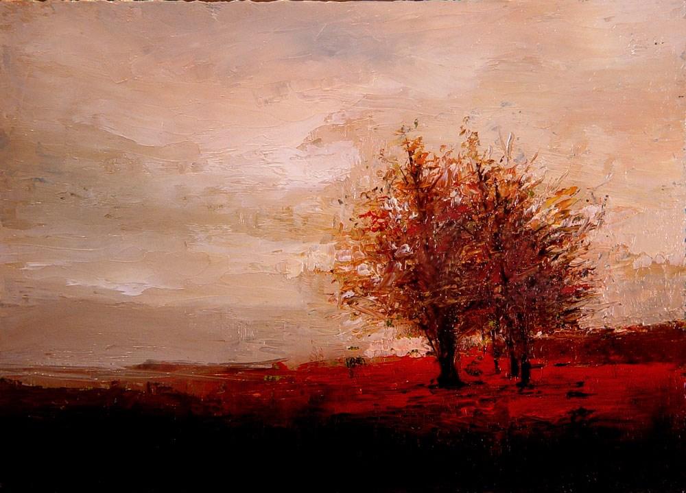"""Sparse Autumn Trees"" original fine art by Bob Kimball"