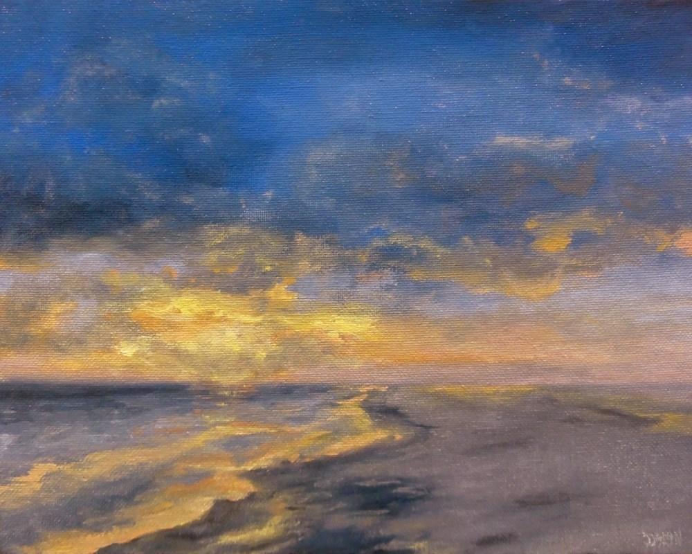 """""""Beach Sunset"""" original fine art by Dalan Wells"""