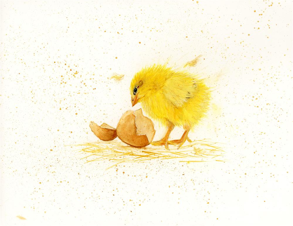 """Chicky"" original fine art by Helen Kuhn"