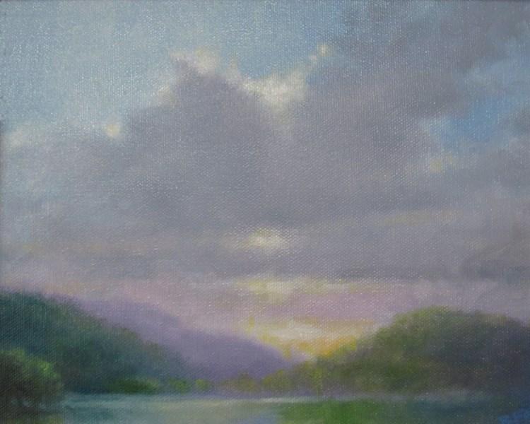 """High Mountain Lake (SOLD)"" original fine art by Barbara Fox"