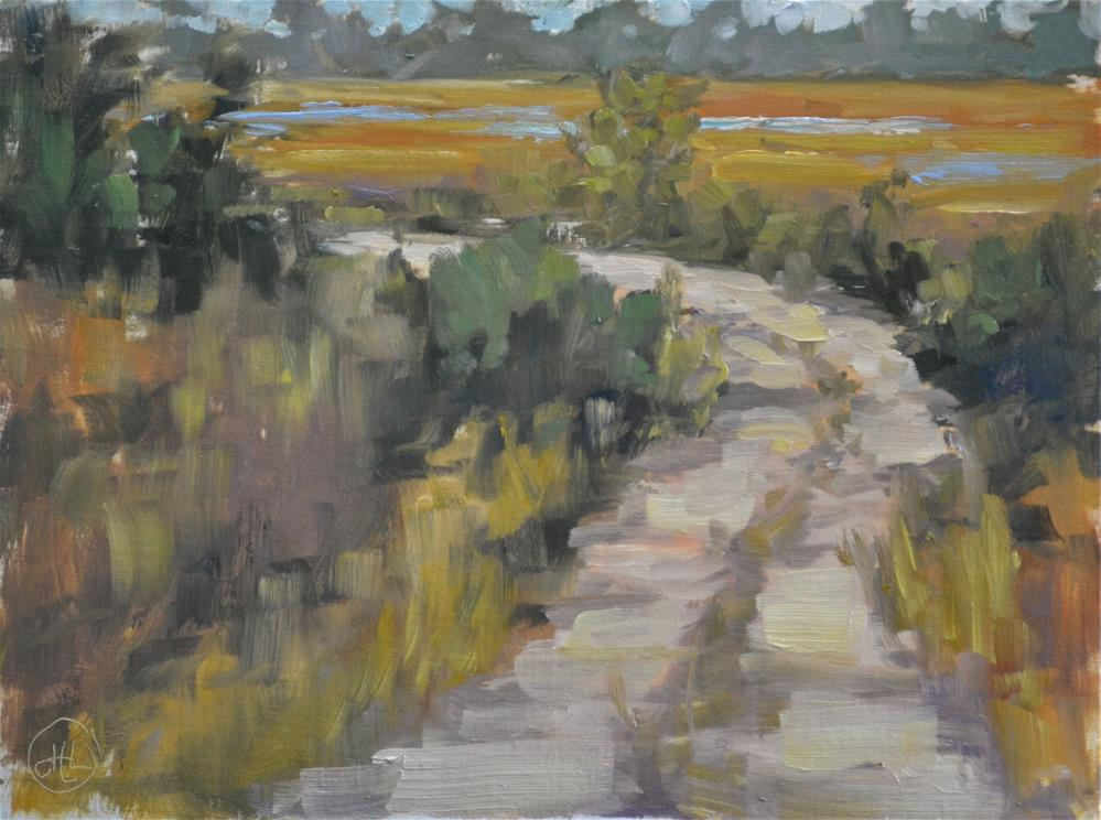 """"""" peace at the end of the road"""" original fine art by Dottie  T  Leatherwood"""