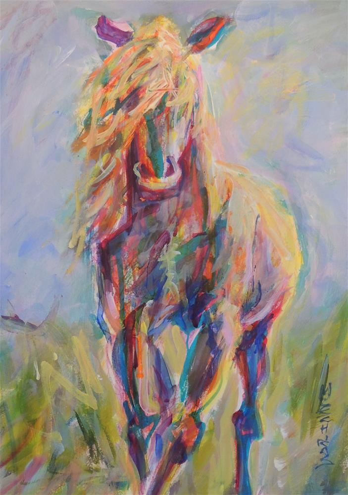""" Horse of Many Colors"" original fine art by Mary Schiros"