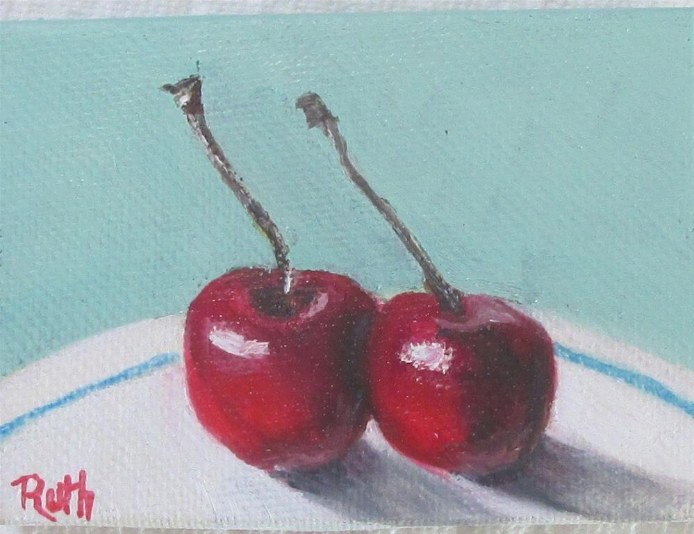 """Cherry Duet"" original fine art by Ruth Stewart"