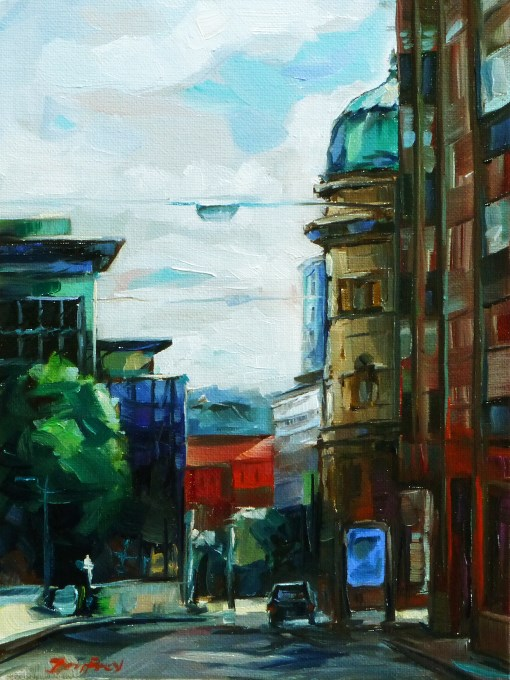 """Stuttgart"" original fine art by Jurij Frey"