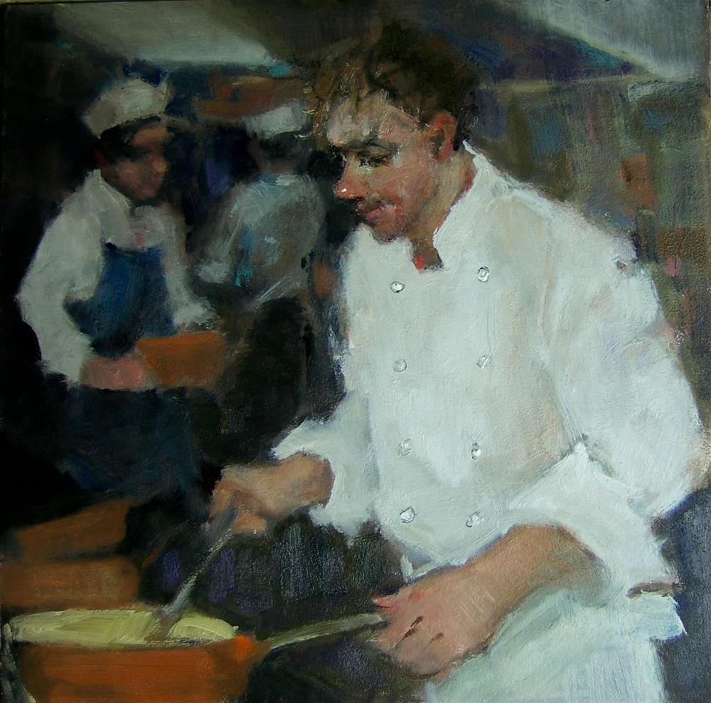 """""""Master Chef"""" original fine art by Kim Roberti"""