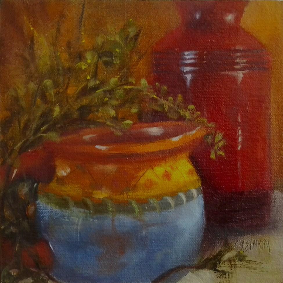 """""""Santa Fe Kitchen"""" original fine art by A.K. Simon"""