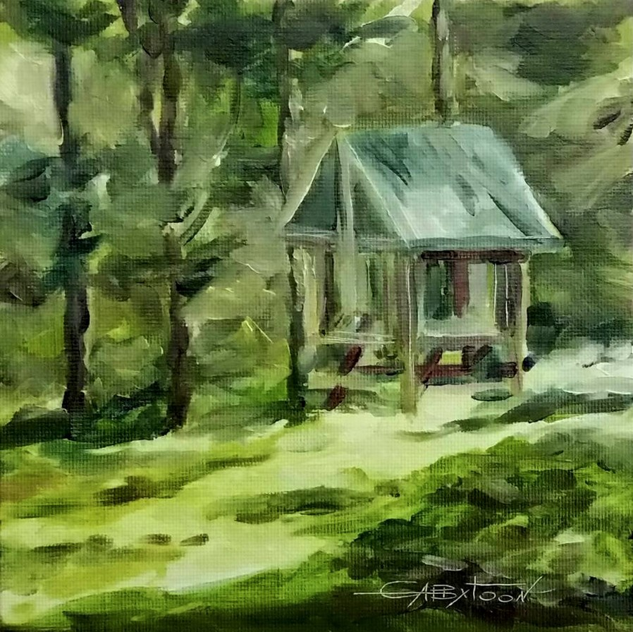 """Backyard Sketch"" original fine art by Gabriella DeLamater"