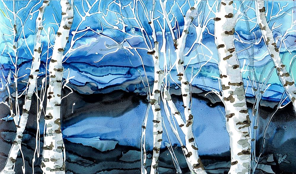 """""""Birch Series 5"""" original fine art by Kristen Dukat"""