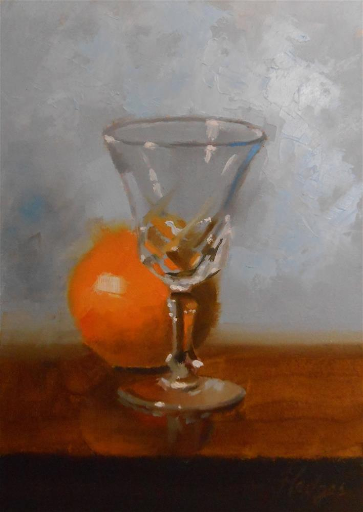 """Orange and Glass"" original fine art by Bruce Hedges"