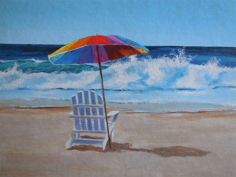 """Alone at the Beach"" original fine art by Terri Nicholson"