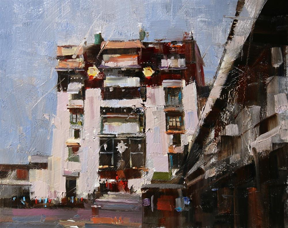 """""""Gate to Wisdom"""" original fine art by Qiang Huang"""