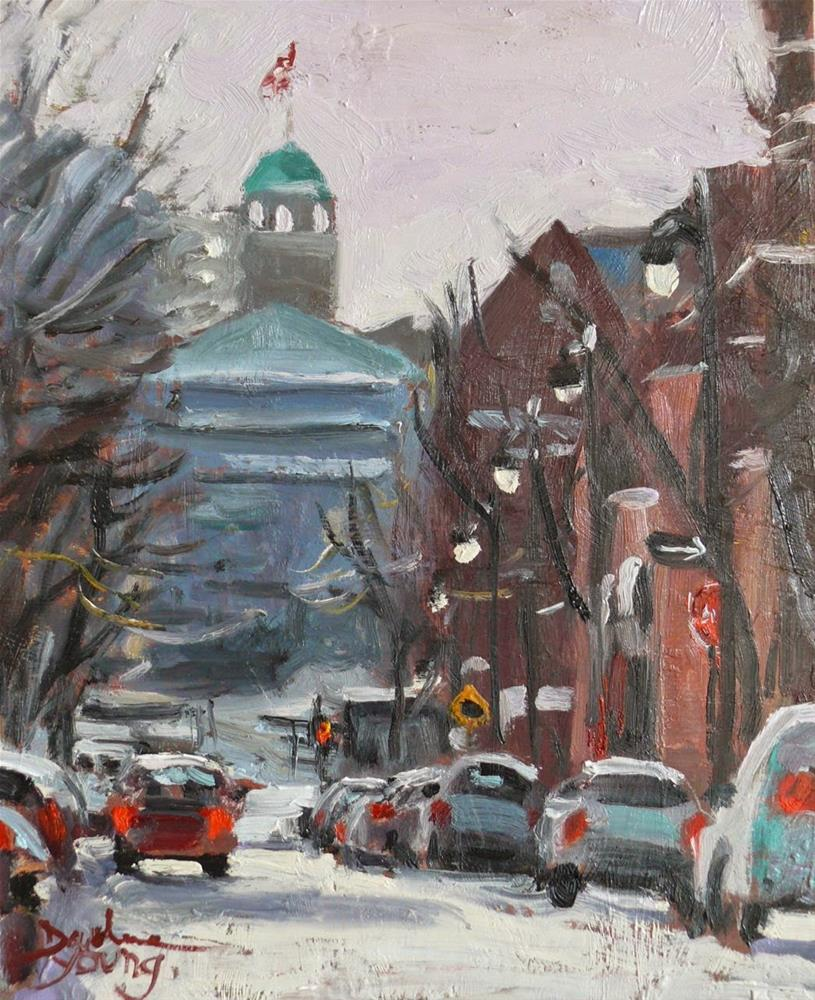 """785 McGill University Winter Scene"" original fine art by Darlene Young"