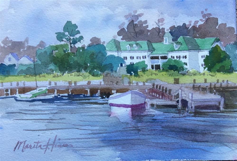 """Roanoke Island Inn"" original fine art by Marita Hines"