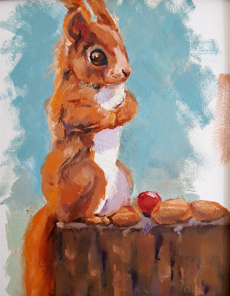 """Gone Cherry Picking"" original fine art by Bhavna Misra"