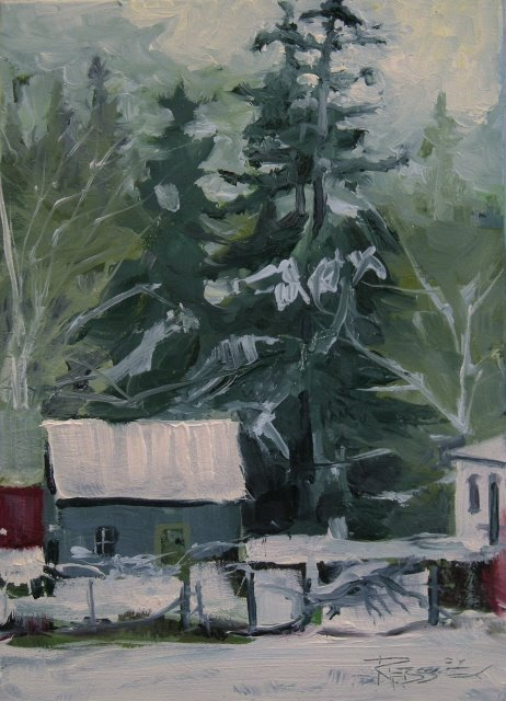 """""""First Snow  landscape oil painting"""" original fine art by Robin Weiss"""