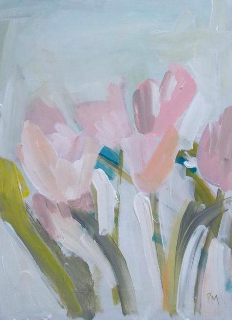 """""""Abstract Tulips"""" original fine art by Pamela Munger"""