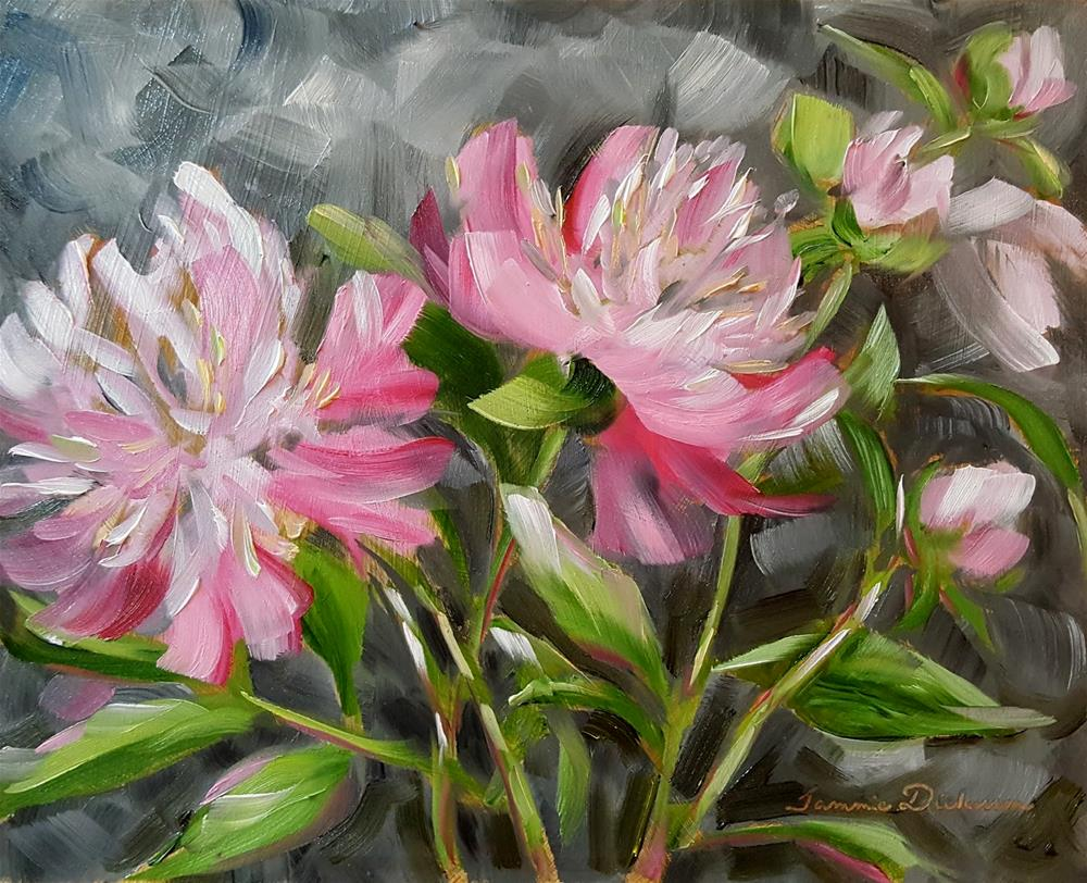 """Rainy Day Peonies"" original fine art by Tammie Dickerson"