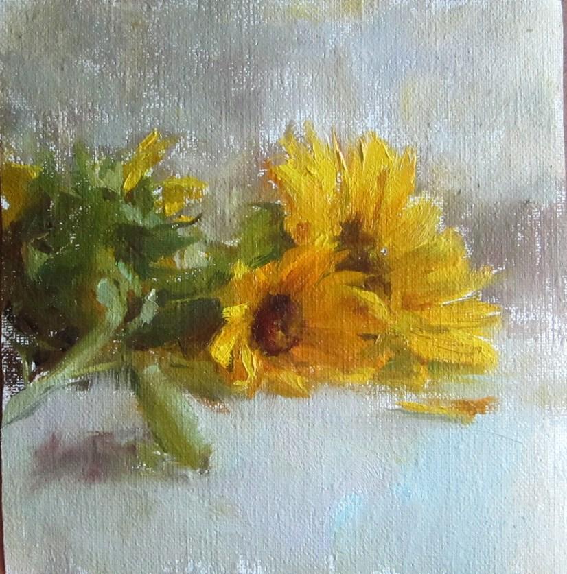 """garden flowers"" original fine art by Taisia Kuklina"