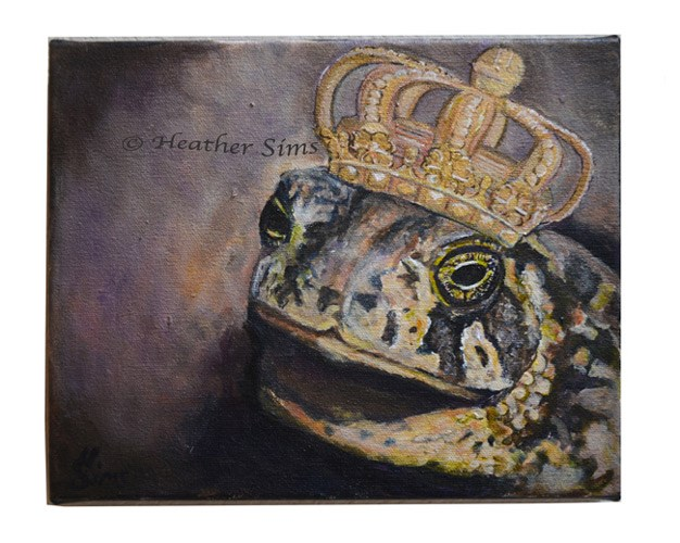 """""""A Toad's Fantasy"""" original fine art by Heather Sims"""