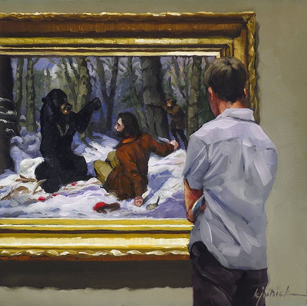 """Bear In Mind (study)"" original fine art by Karin Jurick"