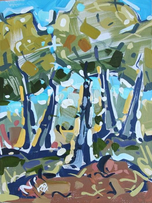 """Landscape Exploration 28"" original fine art by Roger Akesson"