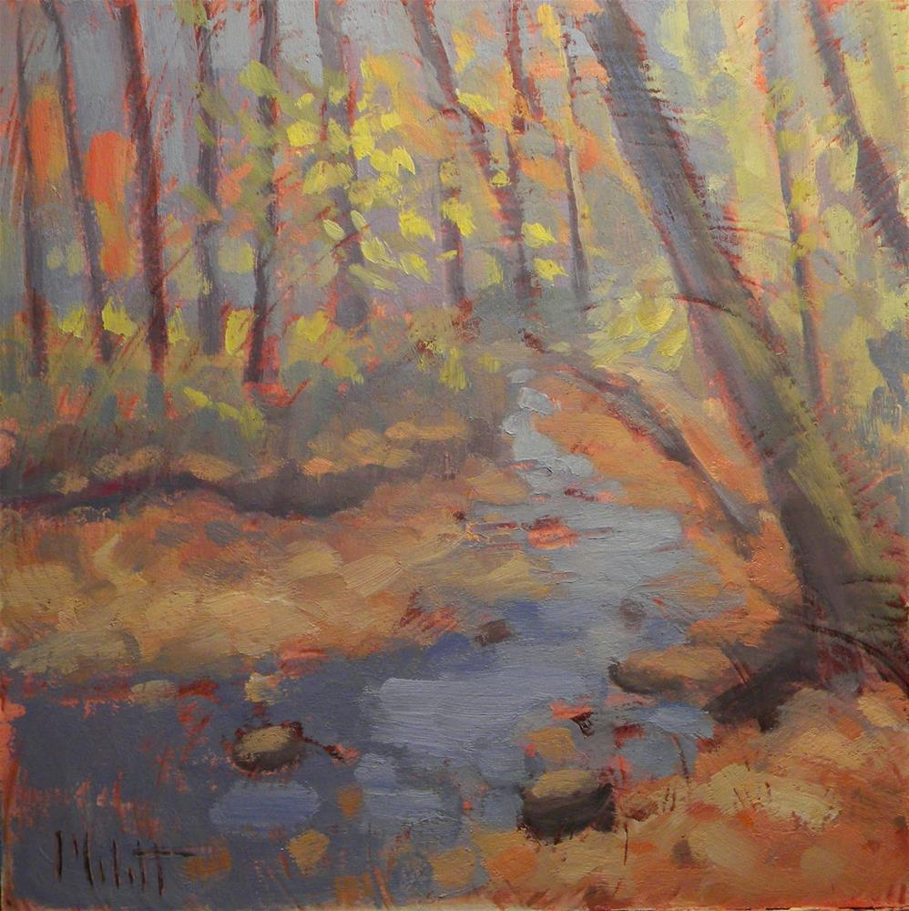 """Autumn Creek Fall Landscape Original Oil Painting"" original fine art by Heidi Malott"