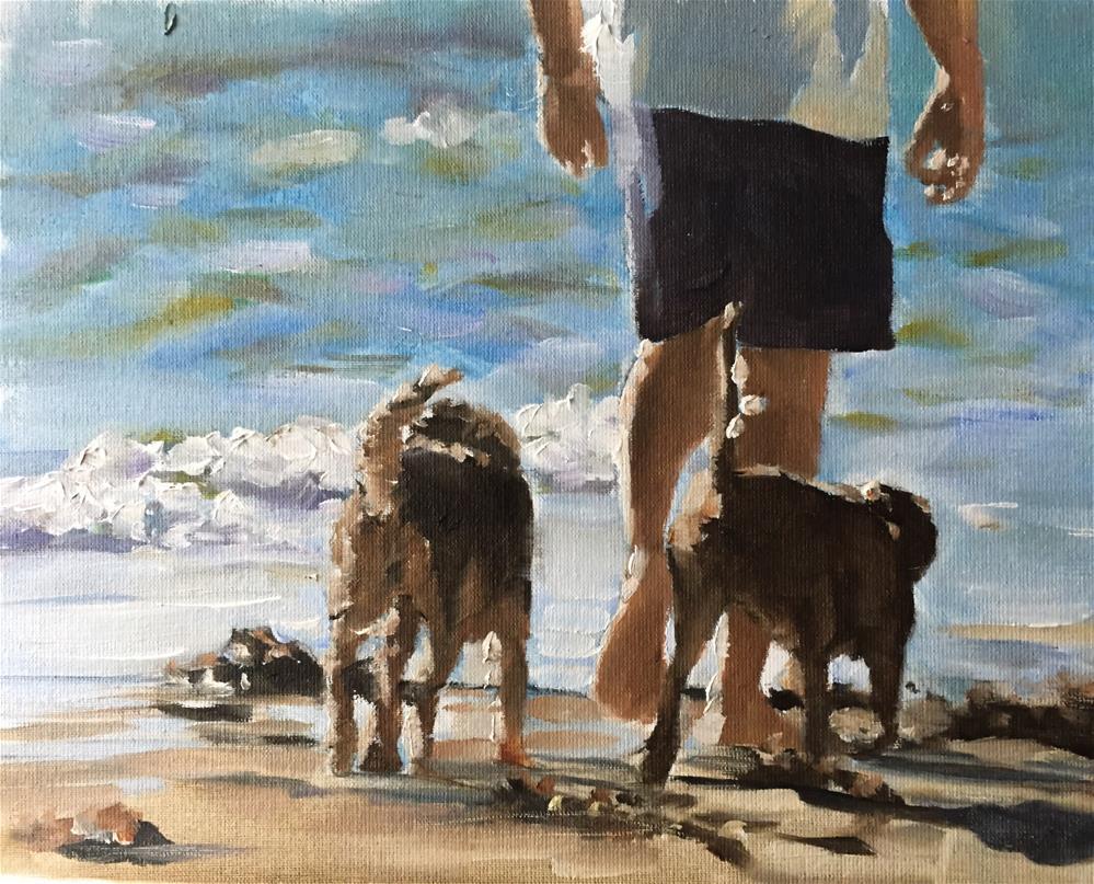 """""""Sea Dogs"""" original fine art by James Coates"""