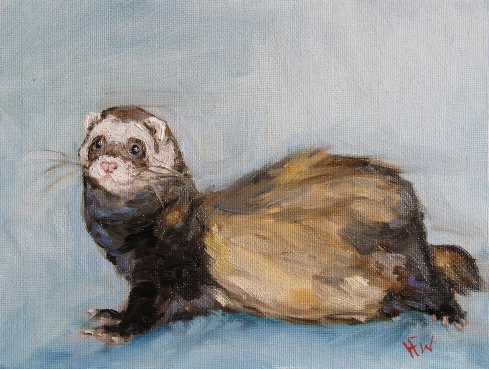 """""""Sable Ferret"""" original fine art by H.F. Wallen"""