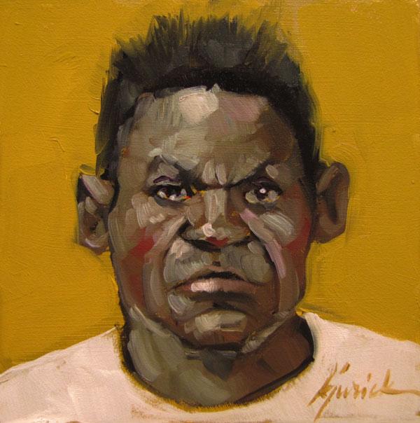 """100 Faces, No. 97"" original fine art by Karin Jurick"