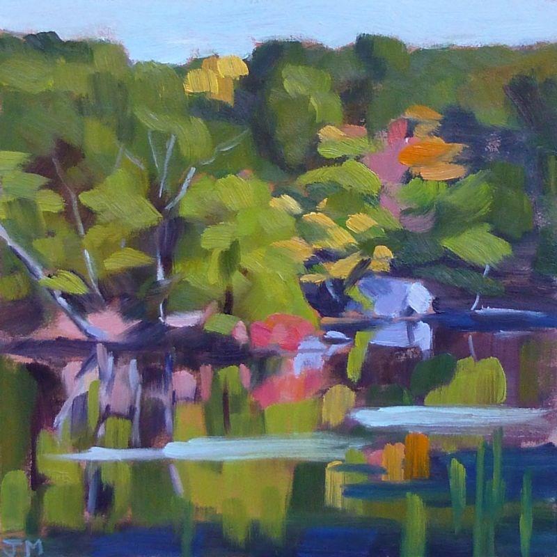 """Blue Mountain"" original fine art by Jessica Miller"