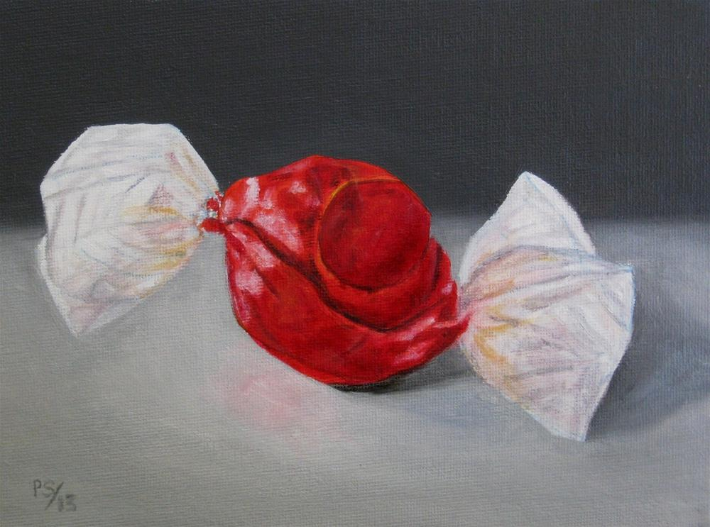 """""""Lindor chocolate ball"""" original fine art by Pera Schillings"""