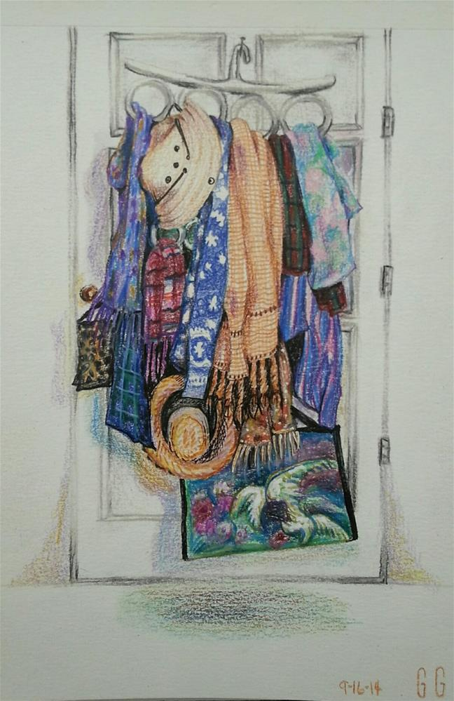 """""""It's All About the Accessories"""" original fine art by Geri Graley"""
