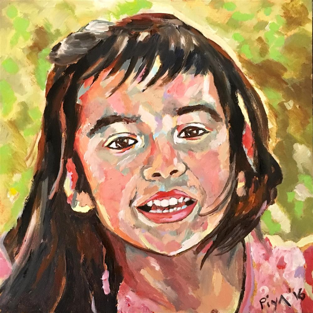 """Evelyn"" original fine art by Piya Samant"