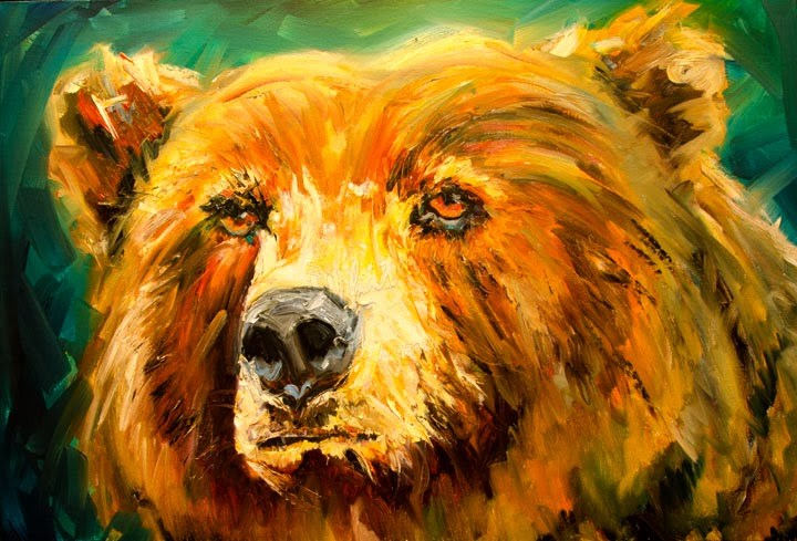 """ARTOUTWEST SOUL BEAR ANIMAL ART WILDLIFE BY Diane Whitehead"" original fine art by Diane Whitehead"